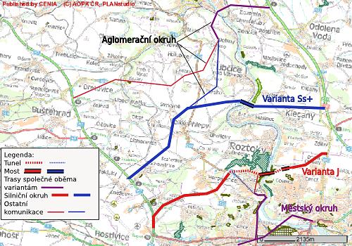 Varianty severního okruhu Prahy
